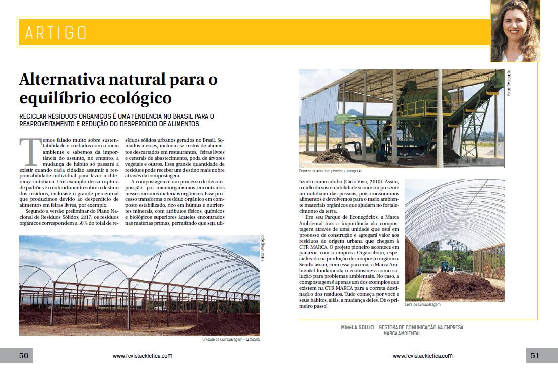 Artigo: Alternativa natural para o equilíbrio ecológico