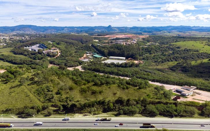 Foto aérea do site da Marca Ambiental